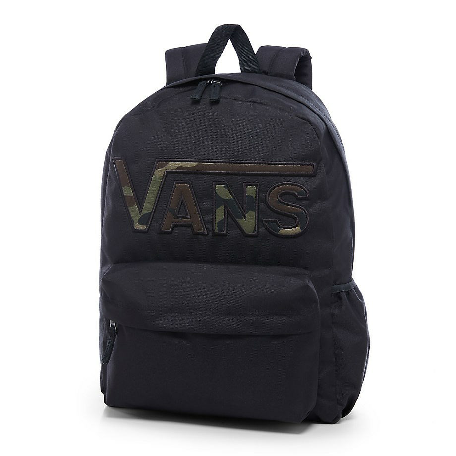 VANS Việt Nam - VANS REALM FLYING V BACKPACK BLACK VN0A34GHBLR