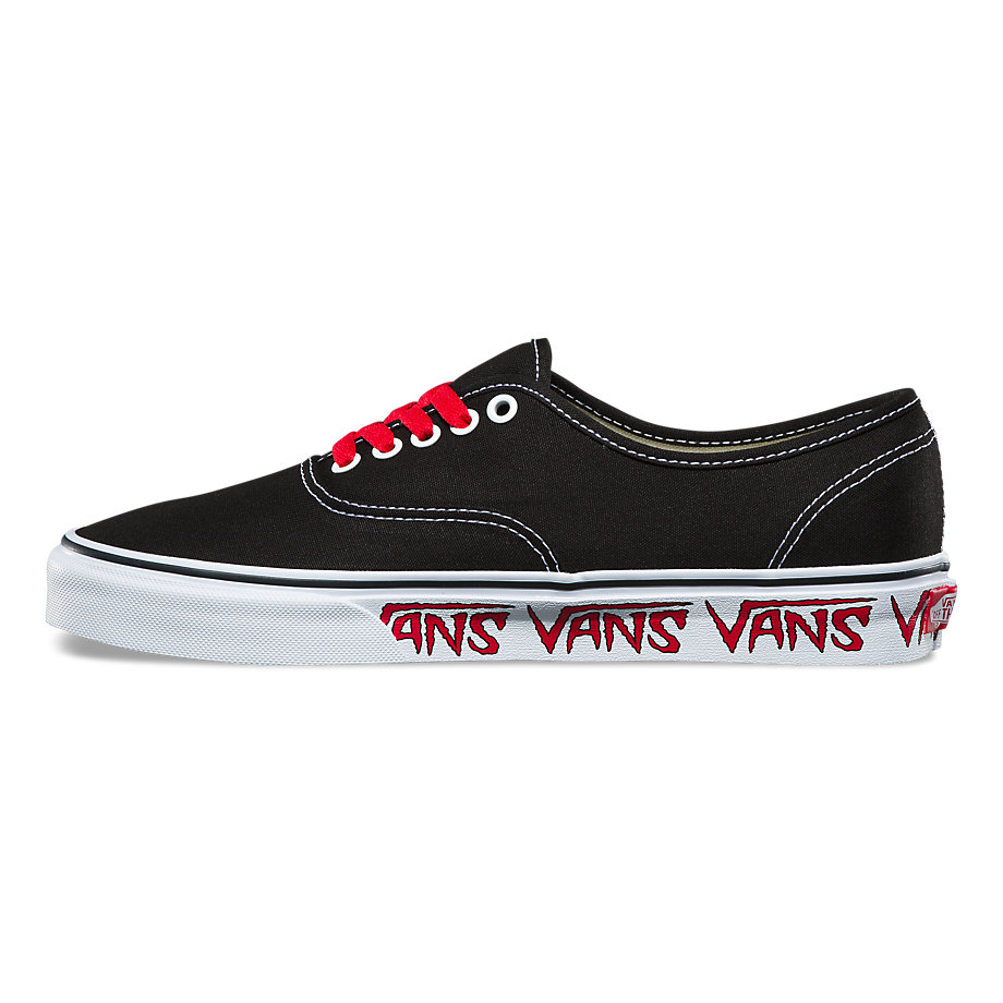 VANS Việt Nam - VANS SKETCH SIDEWALL AUTHENTIC BLACK/RED VN0A38EMQ6D
