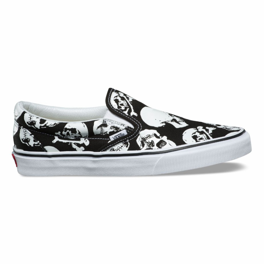 VANS Việt Nam - VANS SKULLS SLIP-ON BLACK TRUE WHITE VN0A38F7H0B