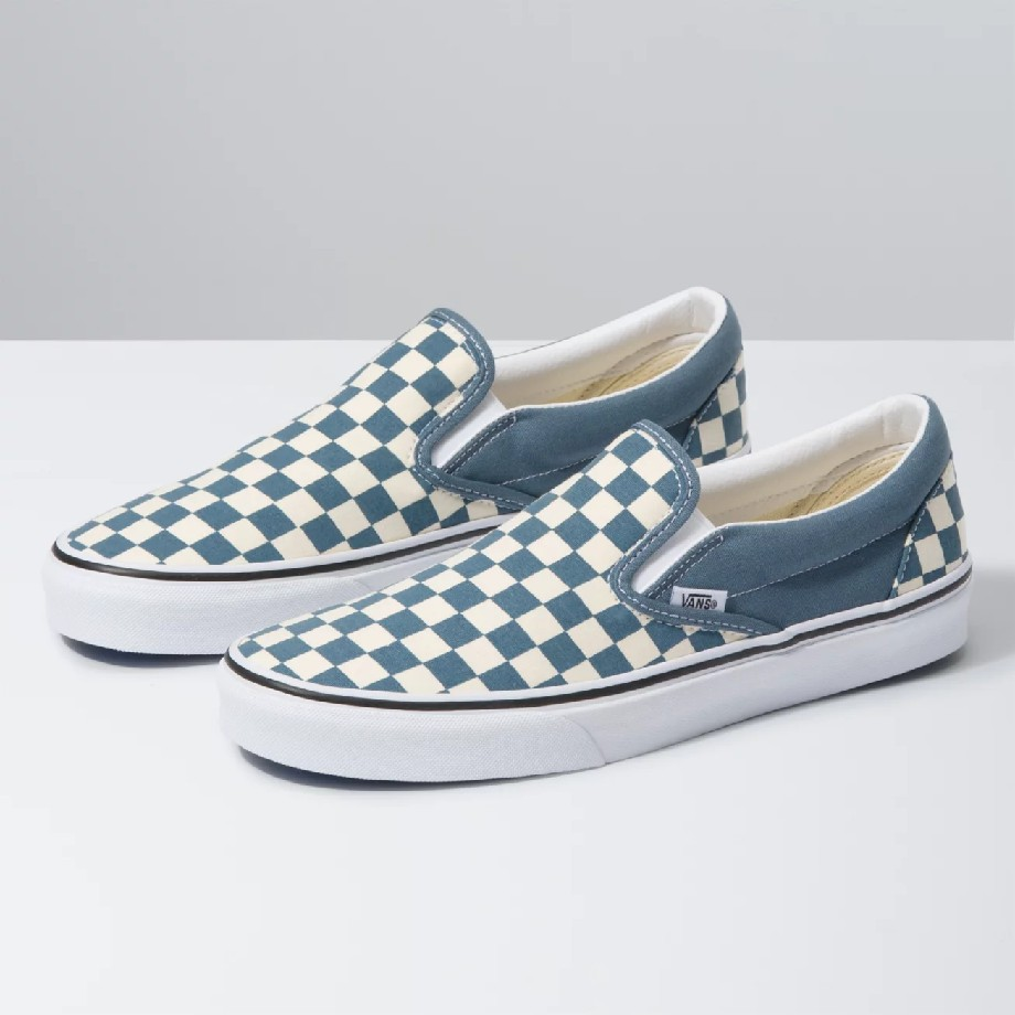 VANS Việt Nam - VANS SLIP-ON CHECKERBOARD BLUE MIRAGE VN0A4U38WRU