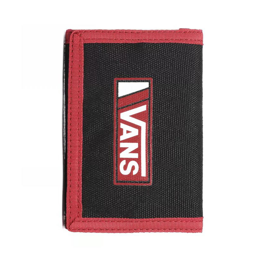 VANS SLIPPED WALLET BLACK/CHILI PEPPER