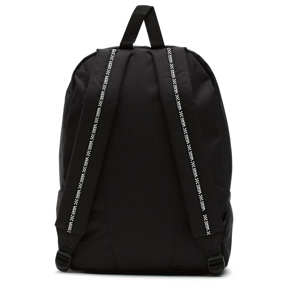 VANS SPORTY REALM II BACKPACK BLACK WHITE LOGO VN0A3IMEY29