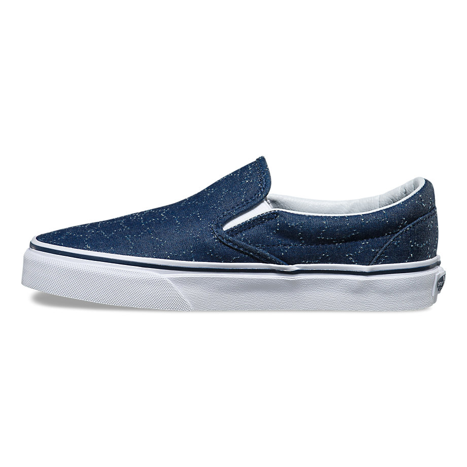 VANS SLIP-ON (STAR DOTS) DRESS BLUE/TRUE WHITE