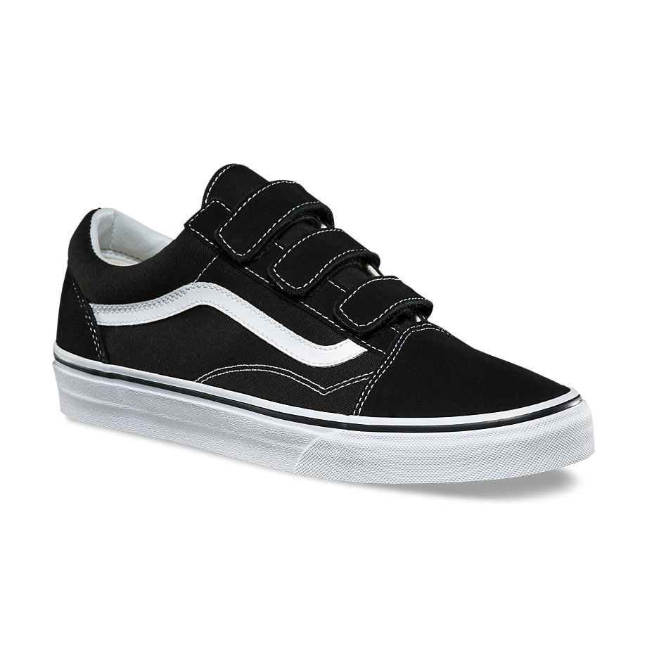 VANS Việt Nam-VANS  SUEDE CANVAS OLD SKOOL V BLACK/TRUE WHITE VN0A3D29OIU