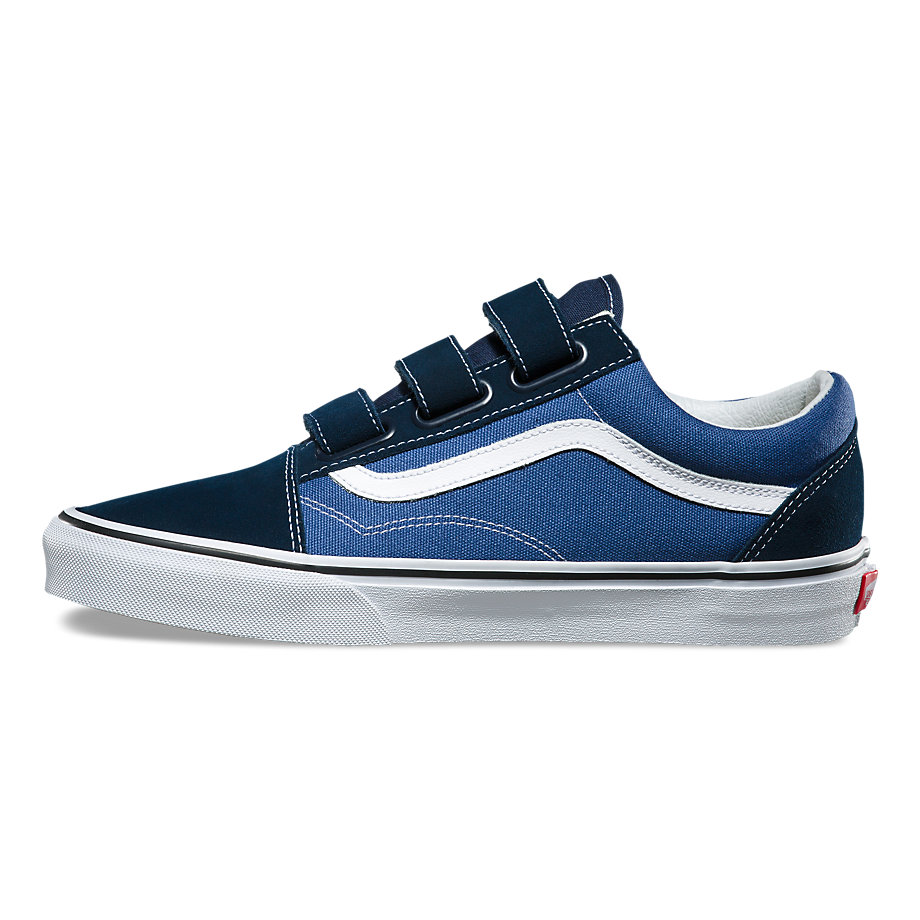 VANS Việt Nam - VANS SUEDE CANVAS OLD SKOOL V DRESS BLUES VN0A3D29OIW