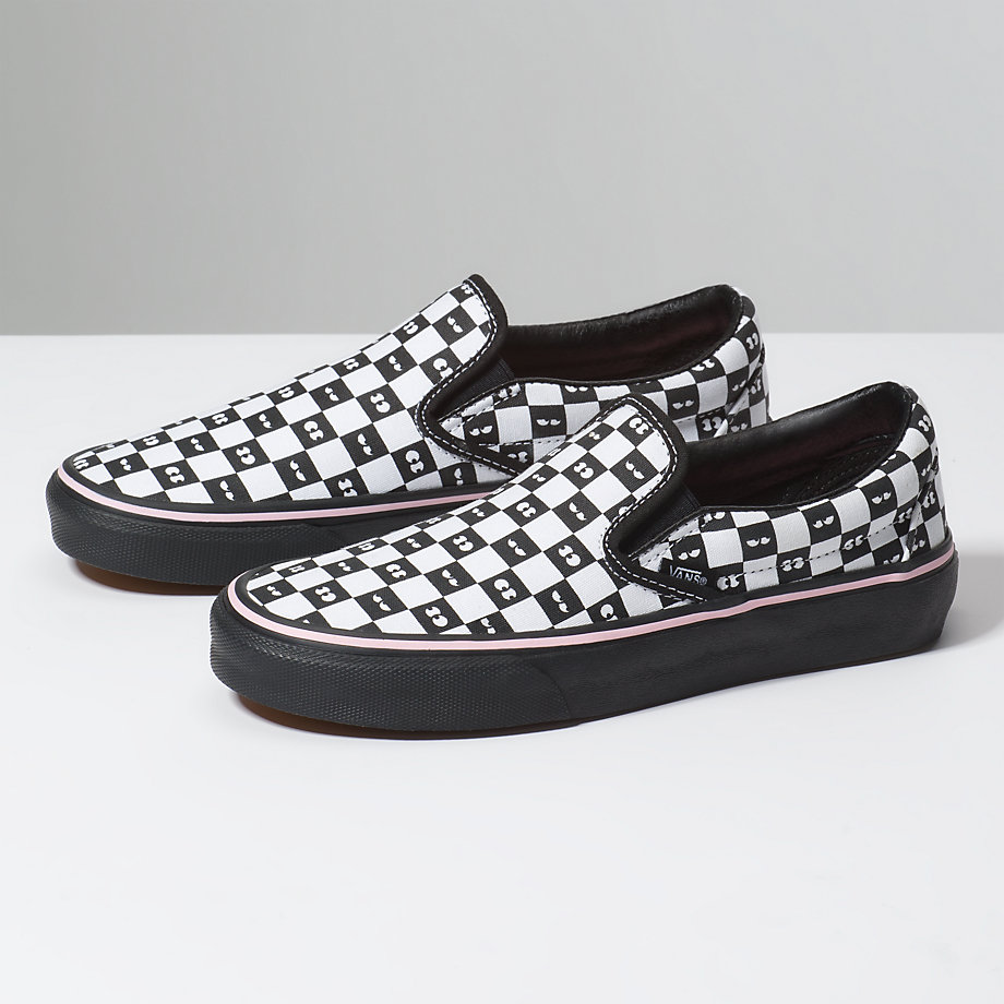 VANS x LAZY OAF CLASSIC SLIP-ON CHECKERBOARD/EYEBALLS VN0A38F7QD0VANS x LAZY OAF CLASSIC SLIP-ON CHECKERBOARD/EYEBALLS VN0A38F7QD0