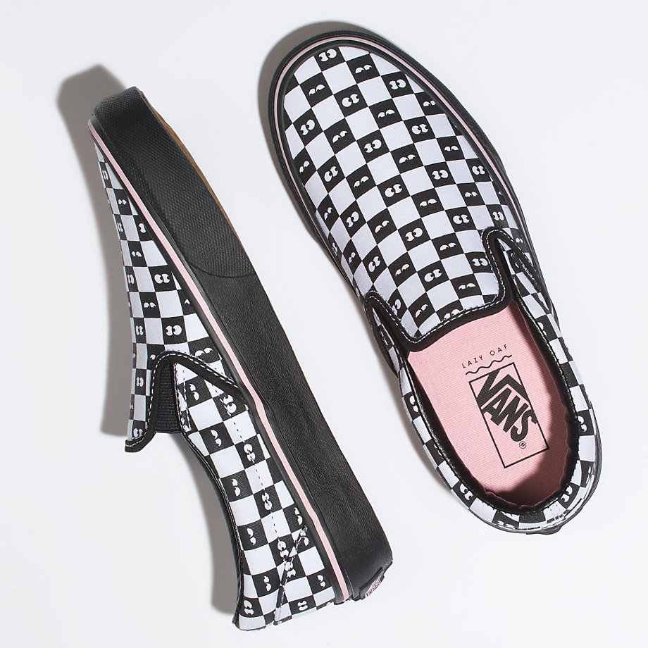 VANS X LAZY OAF CLASSIC SLIP-ON CHECKERBOARD/EYEBALLS