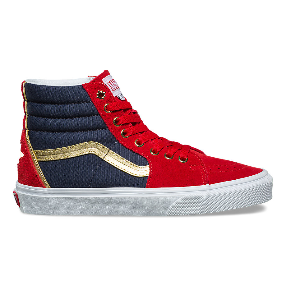 VANS X MARVEL SK8-HI CAPTAIN MARVEL TRUE WHITE