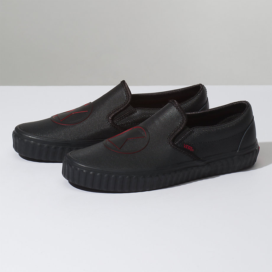 VANS Việt Nam - VANS X MARVEL SLIP-ON BLACK WIDOW BLACK VN0A38F7U7K