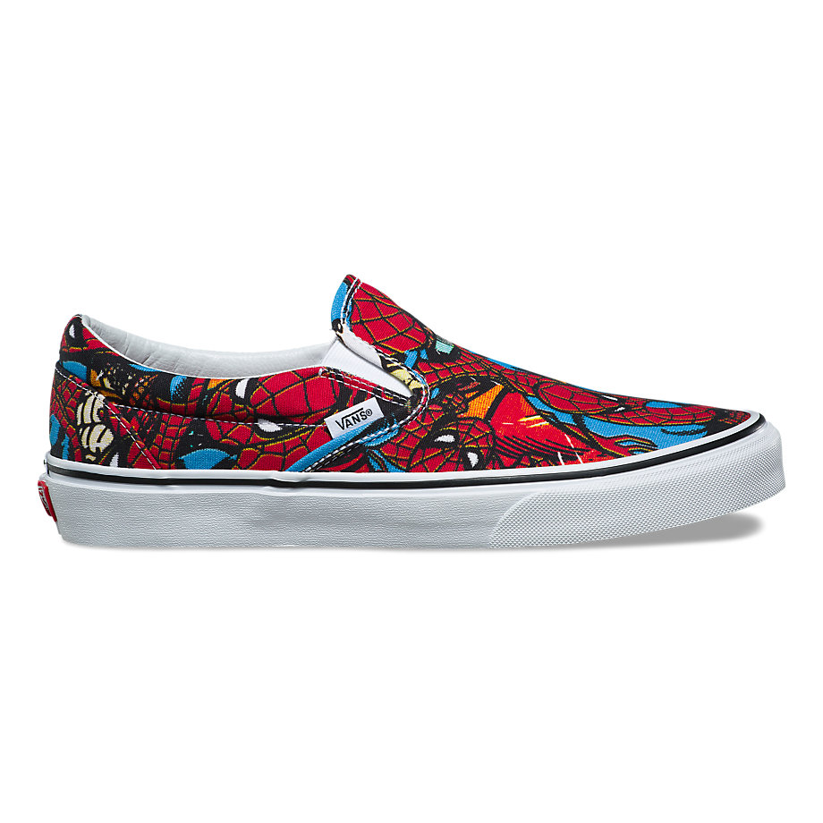 VANS X MARVEL SLIP-ON SPIDERMAN BLACK