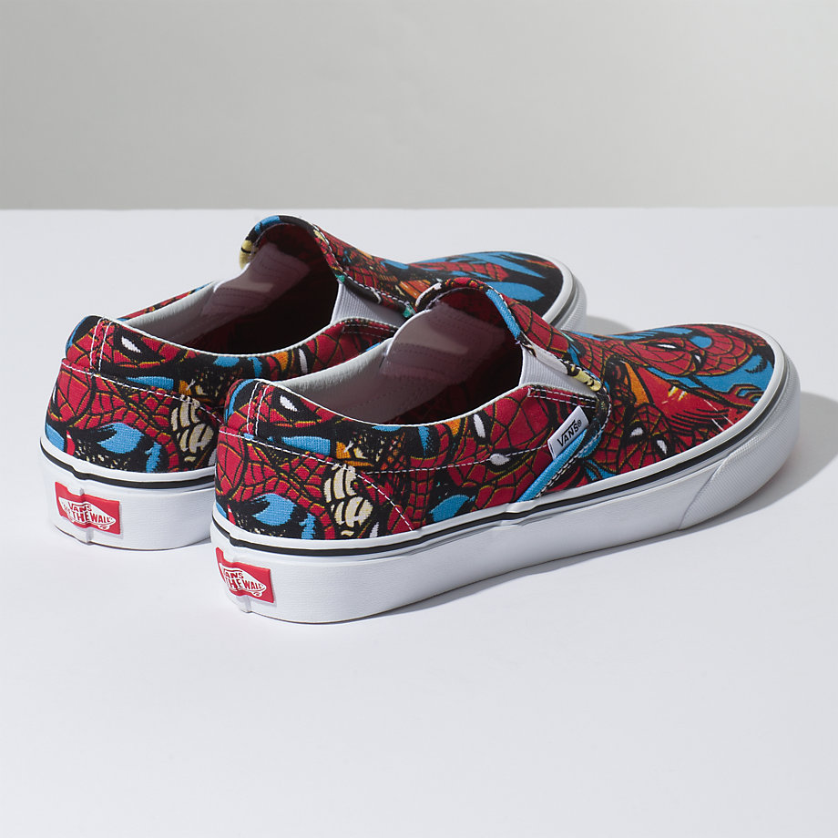 VANS Việt Nam - VANS X MARVEL SLIP-ON SPIDERMAN BLACK VN0A38F79H7