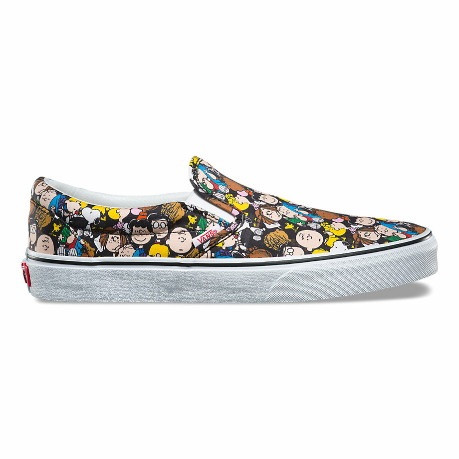 VANS x PEANUTS SLIP-ON THE GANG/BLACK