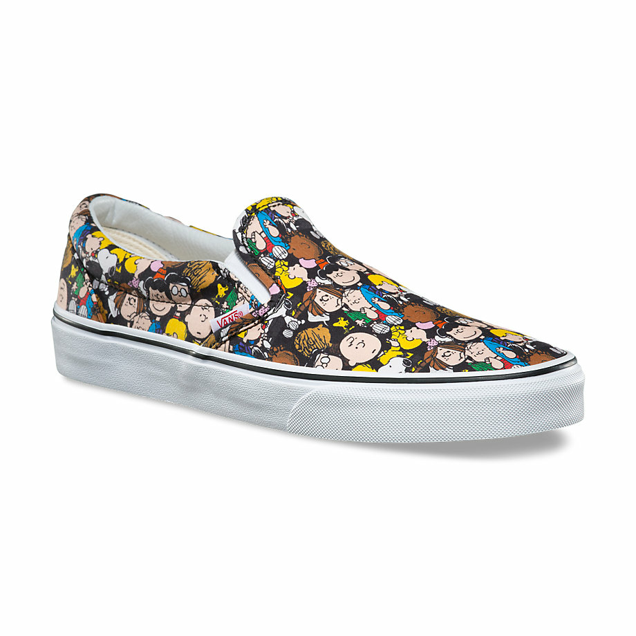 VANS Việt Nam - VANS x PEANUTS SLIP-ON THE GANG/BLACK VN0A38F7OQX