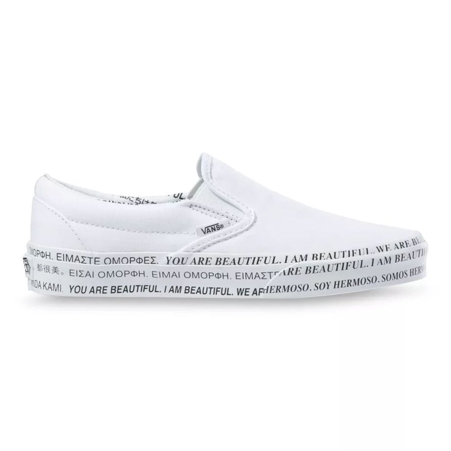 VANS X WE ARE BEAUTIFUL CLASSIC SLIP-ON WHITE