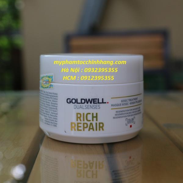 MẶT NẠ 60S GOLDWELL SIÊU CHỮA TRỊ RICH REPAIR 200ML