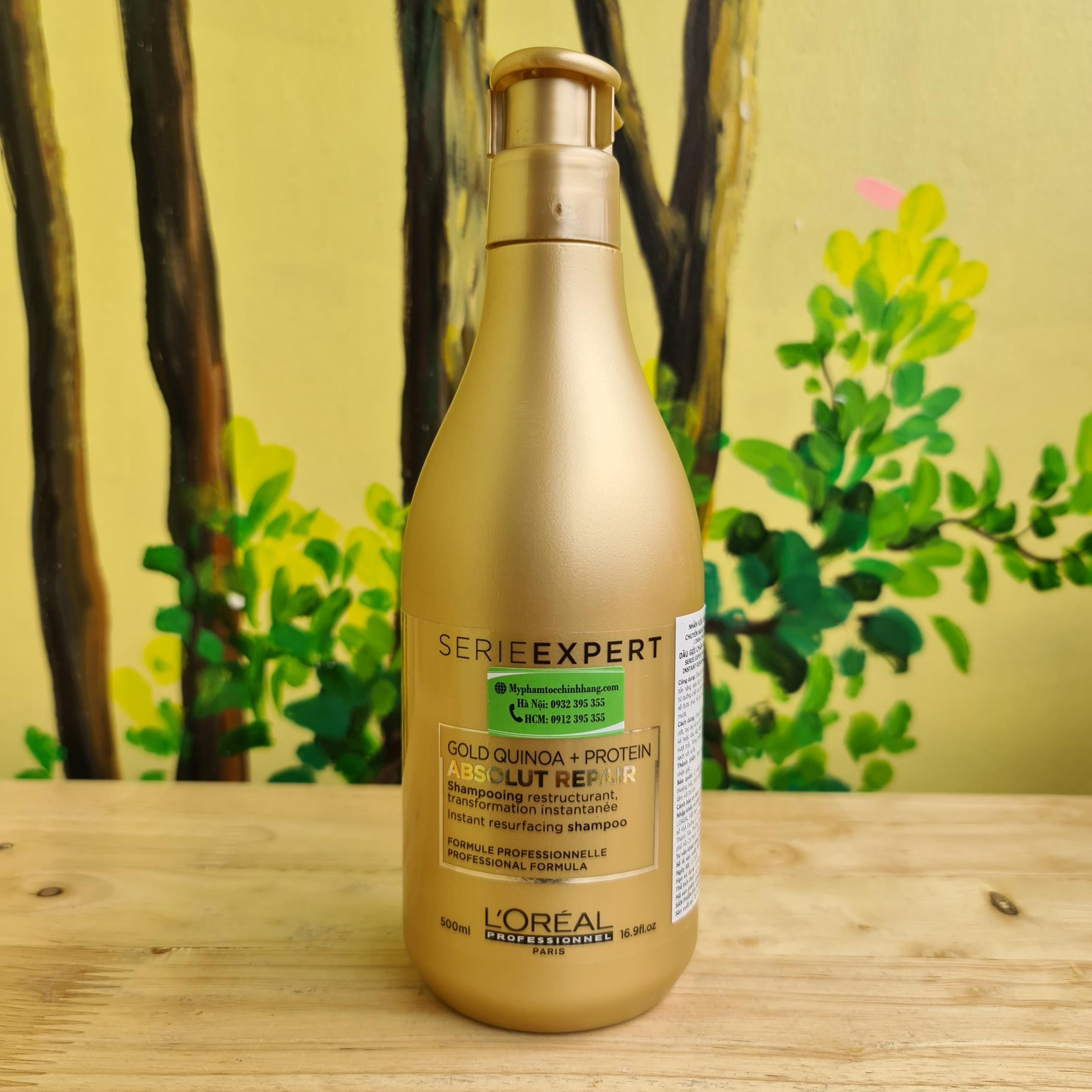 DẦU GỘI L'OREAL ABSOLUT REPAIR GOLD 500ML