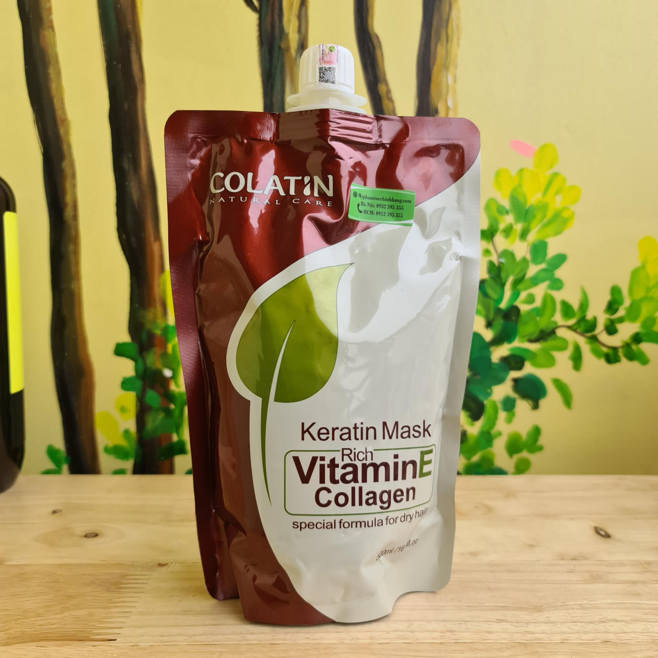 HẤP TÚI COLATIN VITAMIN E COLLAGEN MASK 500ML