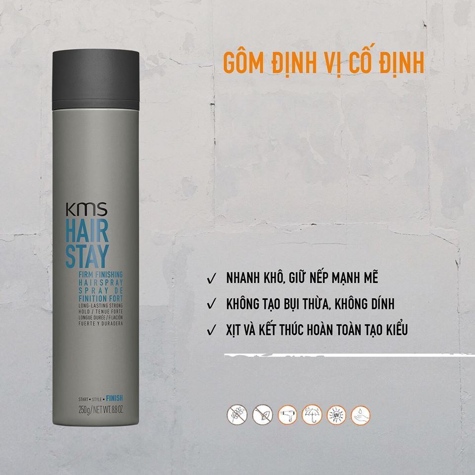 KEO XỊT TÓC KMS HAIR STAY 300ML