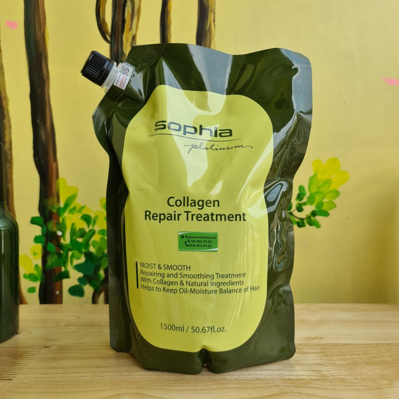Hấp phục hồi thảo dược collagen Sophia 1500ml