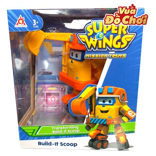 Robot Biến Hình Cỡ Lớn Scoop Xây Dựng - Đội Bay Siêu Đẳng
