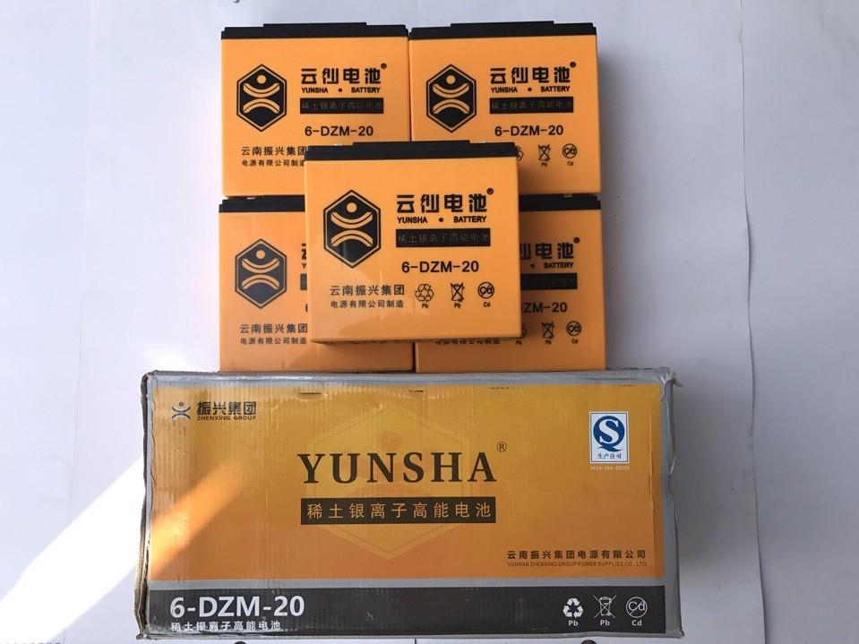 Ắc quy xe máy điện Yunsha 60V-20Ah