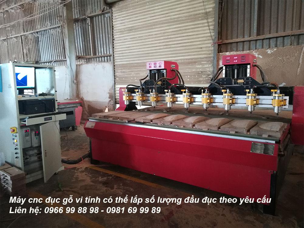 Tham khảo cấu hình và giá thành của máy đục gỗ vi tính 12 đầu của công ty Đông Phương Hà Nộ