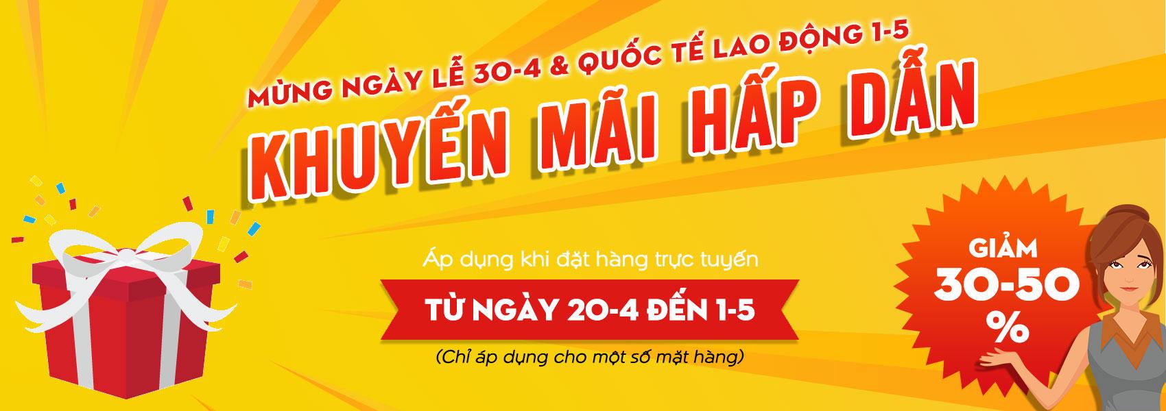 chào mừng ngày lễ 30/4 và quốc tế lao động 1-5