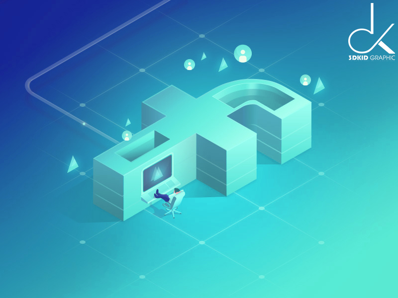 minh-hoa-theo-phong-cach-isometric-3dkid-graphic