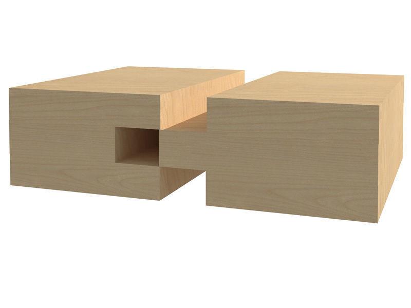 Bộ 2 mũi phay gỗ thẳng vòng bi 3 răng chữ T