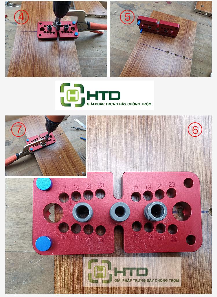 Bộ cữ khoan ốc cam và chốt gỗ