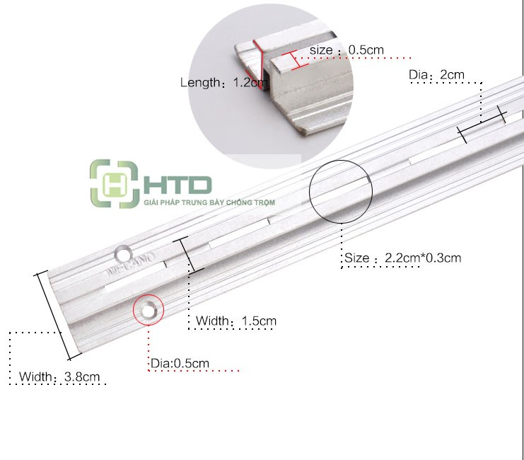 Thanh ray gắn tường HTD-B01