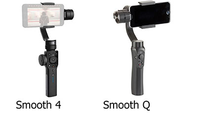 So sánh Zhiyun Smooth 4 với Zhiyun Smooth Q