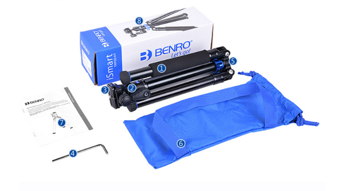 Chân máy ảnh Benro IS05 đóng hộp