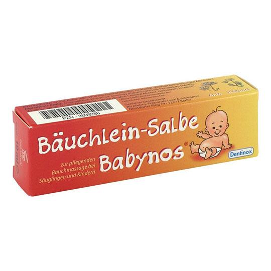 Kem massage Bauchlein - Salbe Babynos