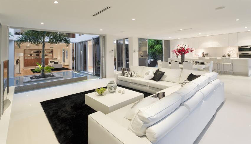 thiết kế nội thất phòng khách hiện đại sang trọng