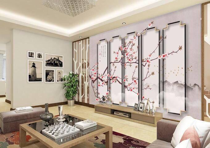 Tranh dán tường phòng khách Lào Cai Sapa