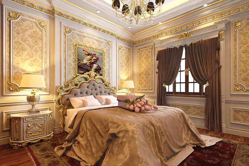 Nội thất phòng ngủ tân cổ điển tại Lào cai sapa