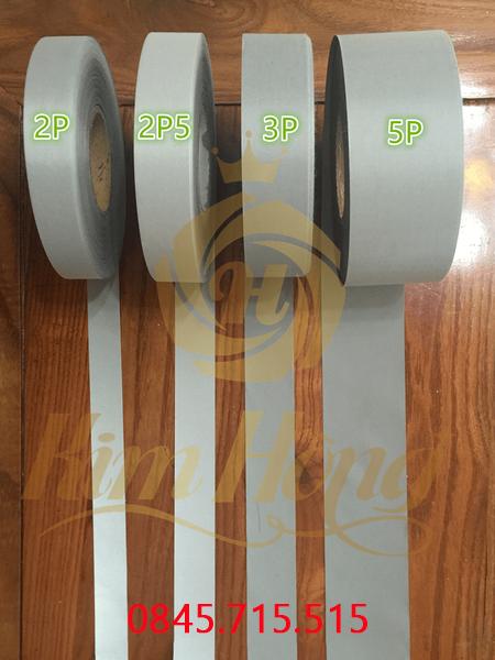 DÂY PHẢN QUANG POLY sáng bạc( Low reflective fabric)
