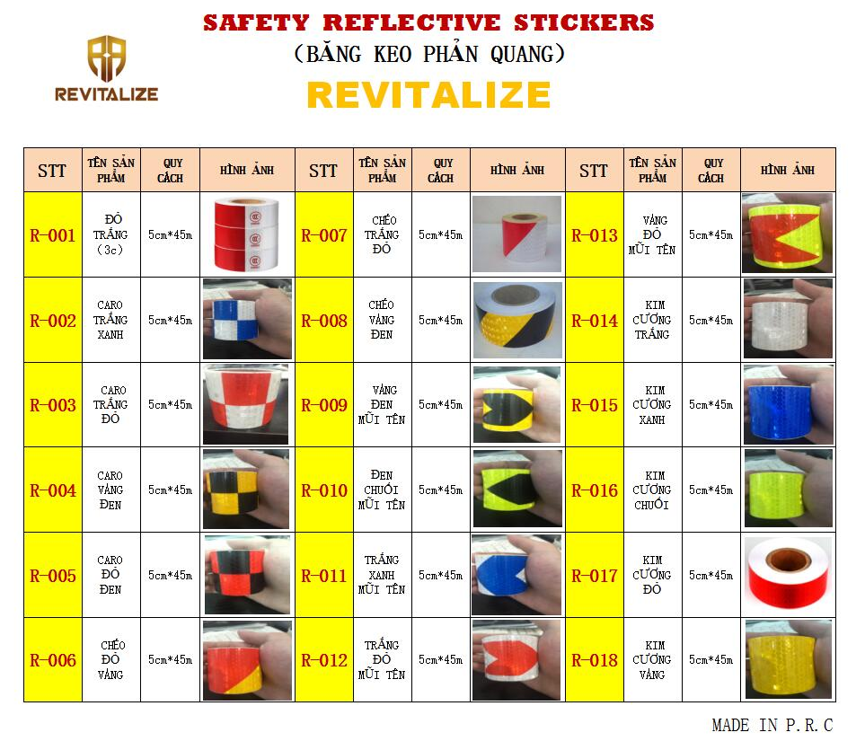 BĂNG KEO PHẢN QUANG (SAFETY  REFLECTIVE  STICKERS )