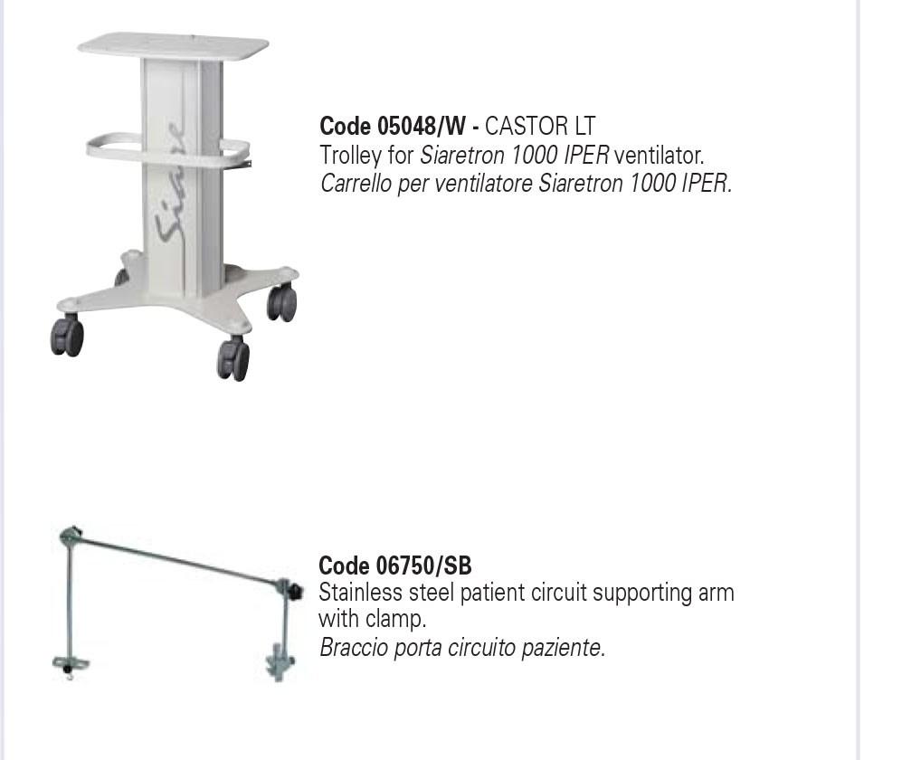 Máy giúp thở loại xe đẩy - SIARETRON 1000 IPER