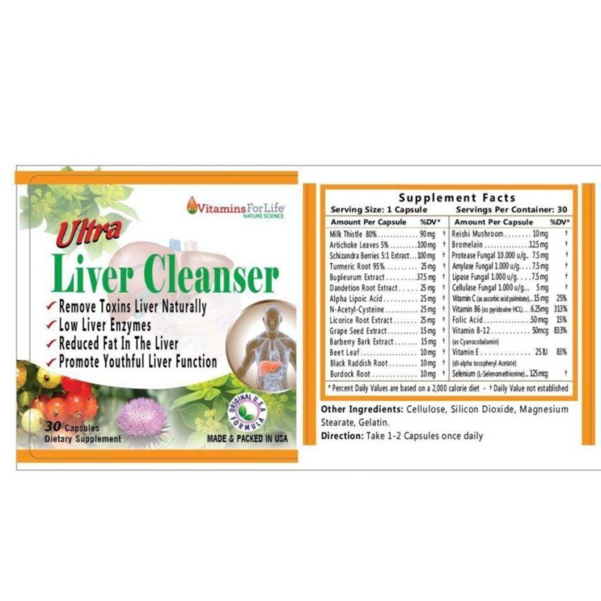 Viên uống giải độc gan Ultra Liver Cleanser