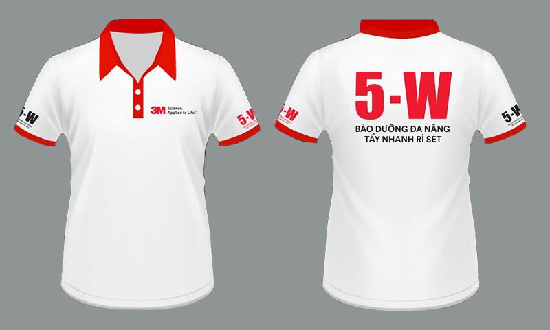 Áo thun đồng phục 5-W
