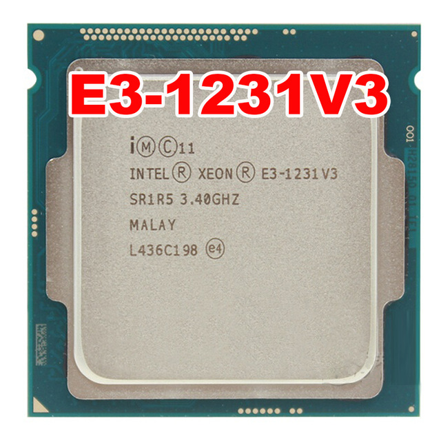 Intel Xeon E3-1231 V3 3.4GHz / 8MB / Socket 1150