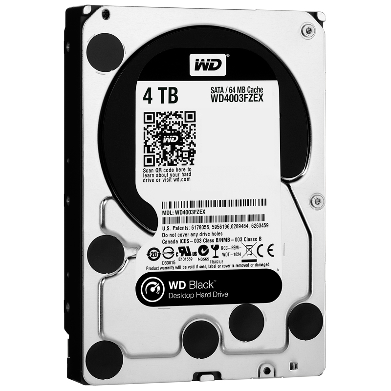 HDD Western Black 4TB 7200Rpm, SATA3 6Gb/s, 64MB Cache