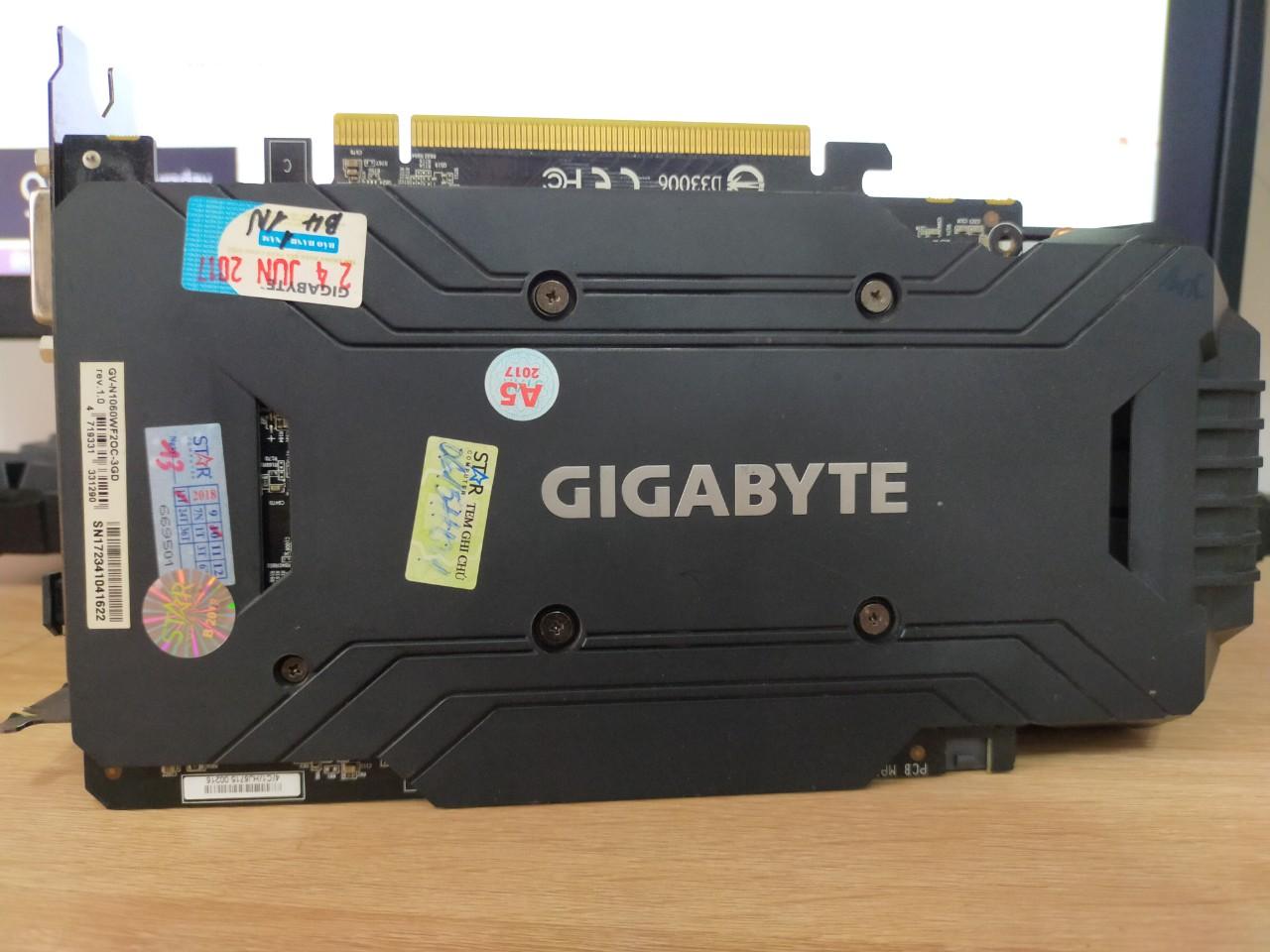 VGA GIGABYTE GeForce GTX 1060 3GB GDDR5 WindForce (GV-N1060WF2OC-3GD)