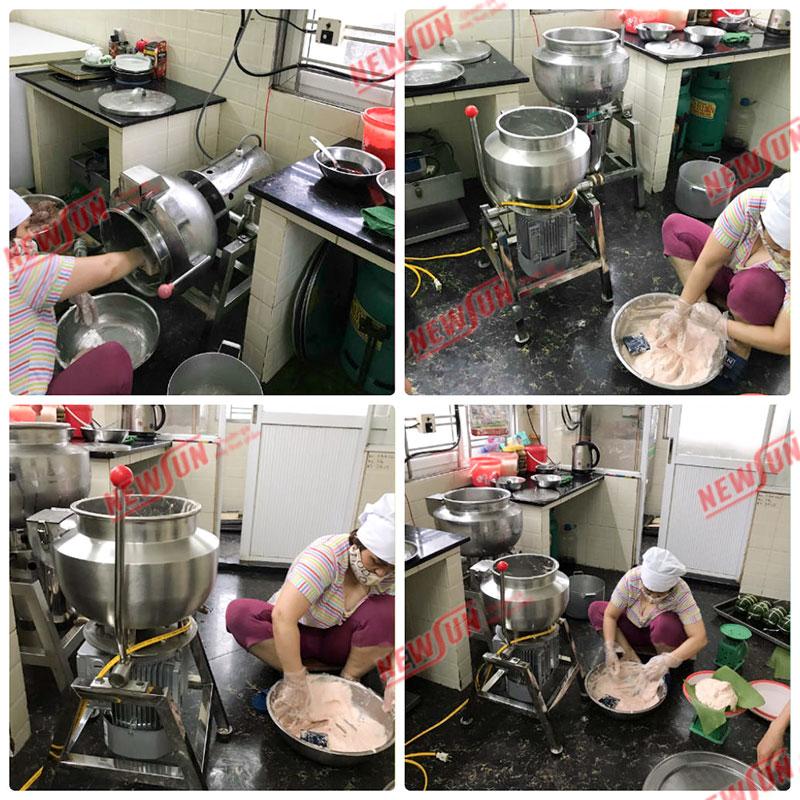 Máy xay giò chả   Máy viên thịt   Tủ hấp công nghiệp chính hãng NEWSUN