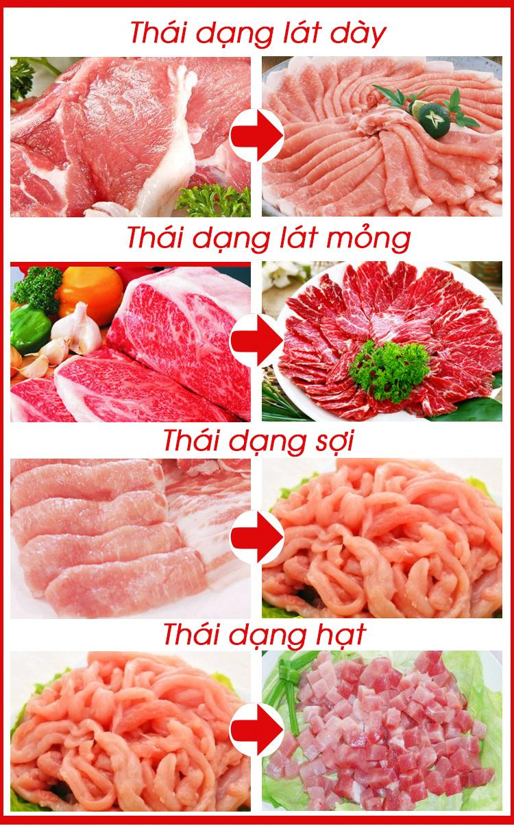 Máy thái thịt mang lại hiệu quả thái tốt nhất