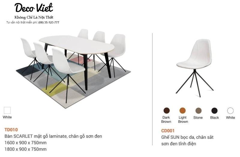 Bàn ghế ăn 046S