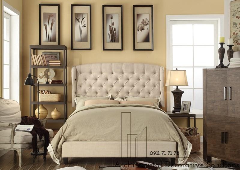 Giường Ngủ Bọc Vải Giá Rẻ 06T