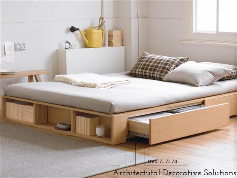 Giường Ngủ Gỗ Có Ngăn Kéo 610T